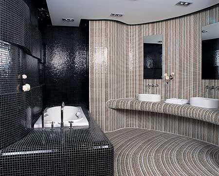 卫浴间马赛克配色 沉静平和很重要